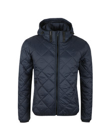 Replay Mens Blue Down Diamond Quilted Jacket