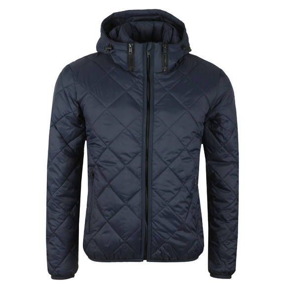 Replay Mens Blue Down Diamond Quilted Jacket  main image