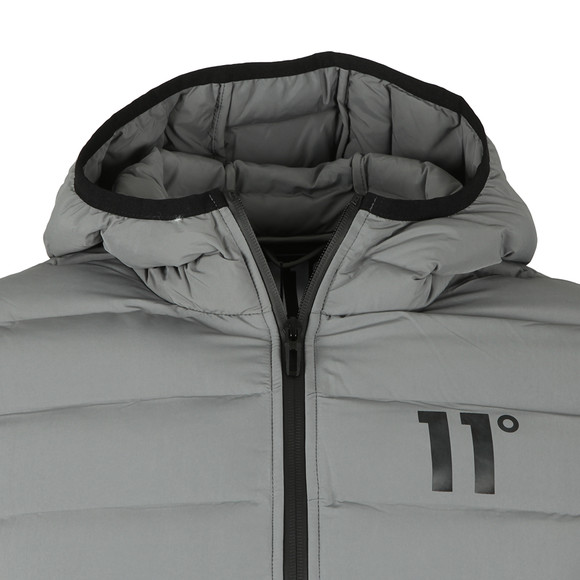 Eleven Degrees Mens Grey Space Puffer Jacket main image