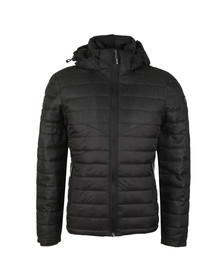 Superdry Mens Black Tweed Mix Chevron Fuji Jacket