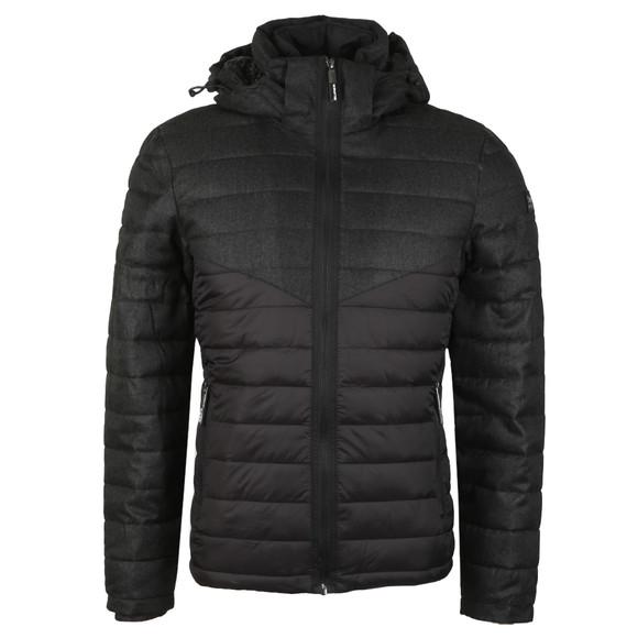 Superdry Mens Black Tweed Mix Chevron Fuji Jacket main image