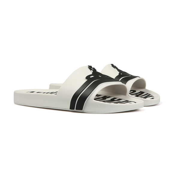 Vivienne Westwood Anglomania Mens White Contrast Beach Slide