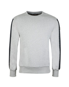 Colmar Mens Grey Sweatshirt With Padded Sleeve Detail