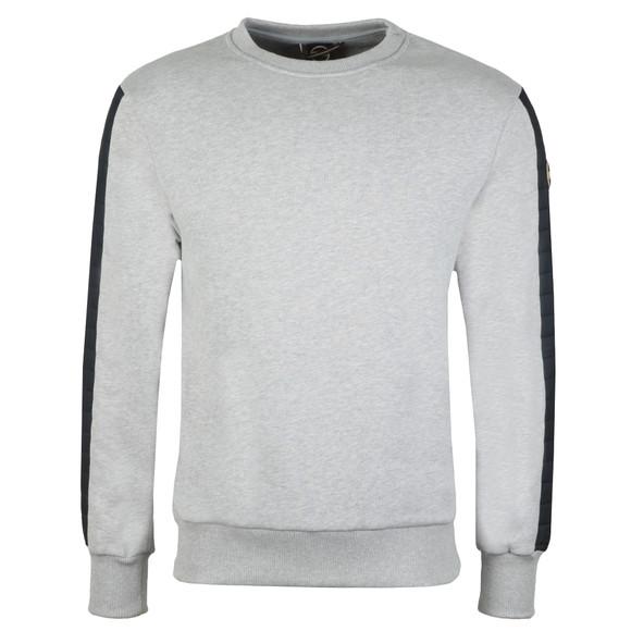 Colmar Mens Grey Sweatshirt With Padded Sleeve Detail main image