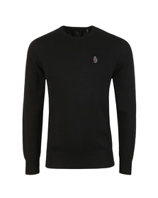 Luke Mens Black Stevie Crew Neck Jumper