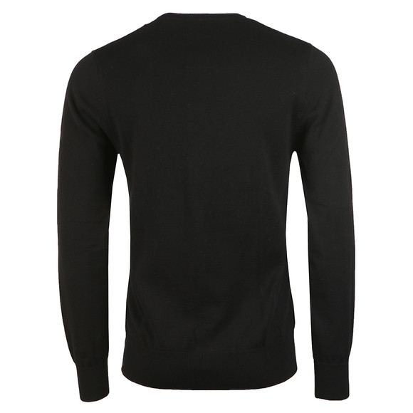 Luke 1977 Mens Black Stevie Crew Neck Jumper main image