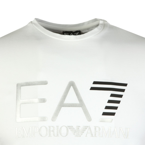 EA7 Emporio Armani Mens White Large Chest Logo Tee main image