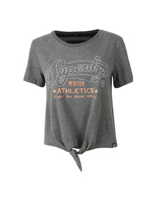Superdry Womens Grey Sdry Athletics Knot Front Tee