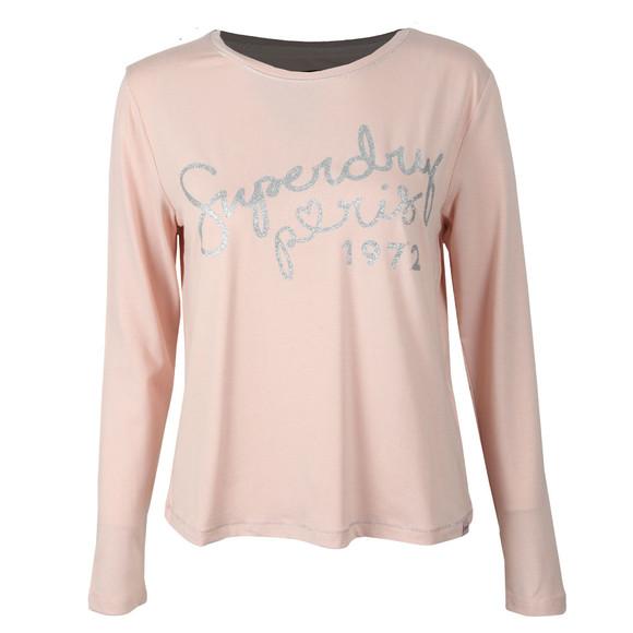 Superdry Womens Pink Cassie Long Sleeve Loungewear Top main image