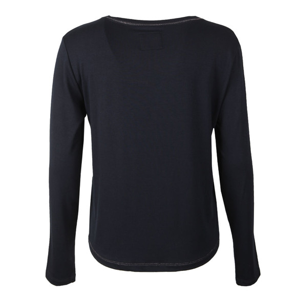 Superdry Womens Blue Cassie Long Sleeve Loungewear Top main image
