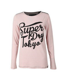 Superdry Womens Pink Amelia Sparkle Graphic Top