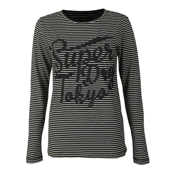 Superdry Womens Black Amelia Sparkle Graphic Top main image