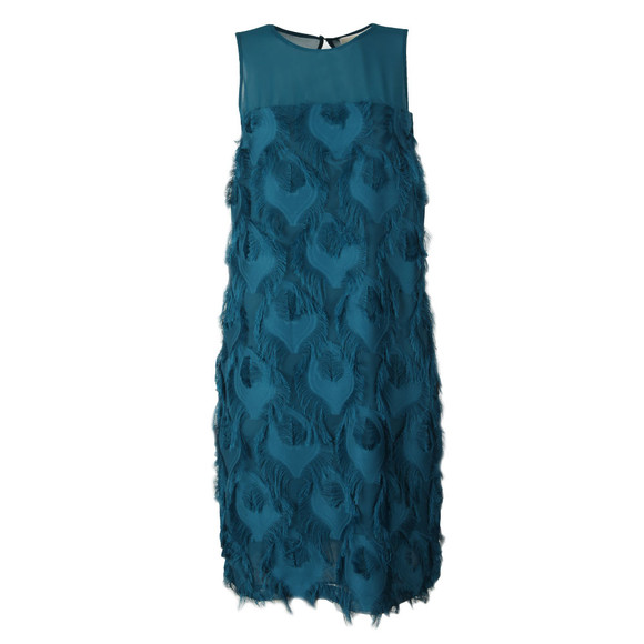 Michael Kors Womens Green Feather Shift Dress main image