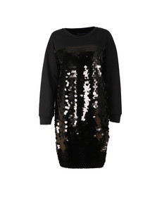 French Connection Womens Black Emilia Sequin Sweat Dress