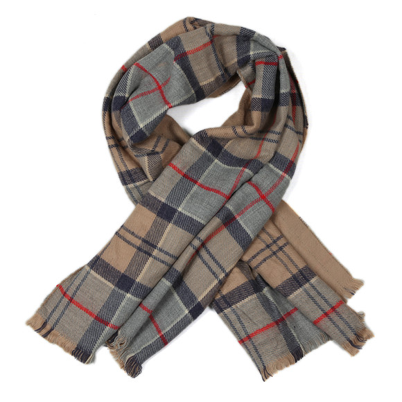Barbour Lifestyle Womens Brown Kilbride Reversible Scarf main image