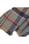 Barbour Lifestyle Womens Brown Kilbride Reversible Scarf