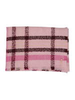 Baiilee Boucle Check Wide Blanket