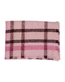 Ted Baker Womens Pink Baiilee Boucle Check Wide Blanket