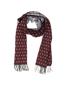 Ted Baker Mens Red Lifton Diamond Scarf