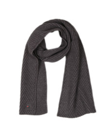 Luke Mens Grey Rulston Rib Scarf