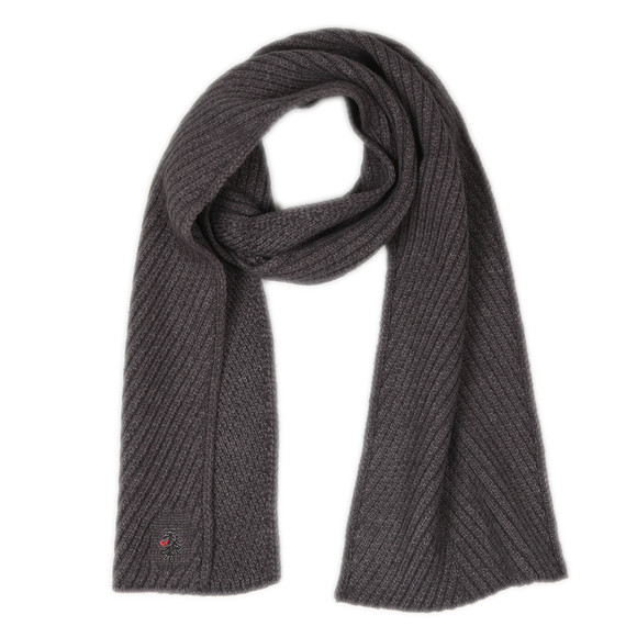 Luke 1977 Mens Grey Rulston Rib Scarf main image
