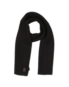 Luke Mens Black Rulston Rib Scarf