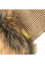 Gold Label Tweed and Fur Scarf additional image
