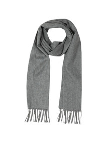 Barbour Lifestyle Mens Grey Plain Lambswool Scarf