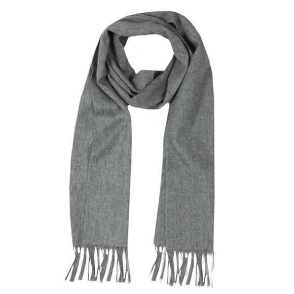 Barbour Lifestyle Mens Grey Plain Lambswool Scarf main image