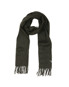 Barbour Lifestyle Mens Green Plain Lambswool Scarf