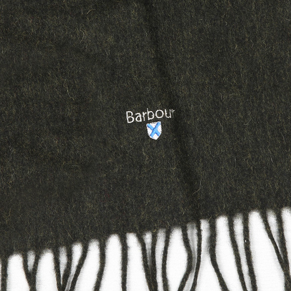 Barbour Lifestyle Mens Green Plain Lambswool Scarf main image
