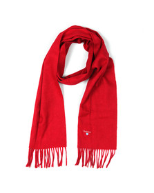 Barbour Lifestyle Mens Red Plain Lambswool Scarf