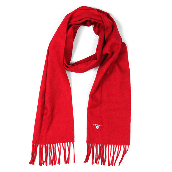Barbour Lifestyle Mens Red Plain Lambswool Scarf main image