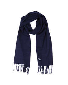 Barbour Lifestyle Mens Blue Plain Lambswool Scarf