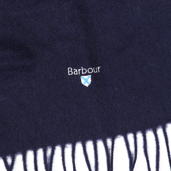 Barbour Lifestyle Mens Blue Plain Lambswool Scarf main image