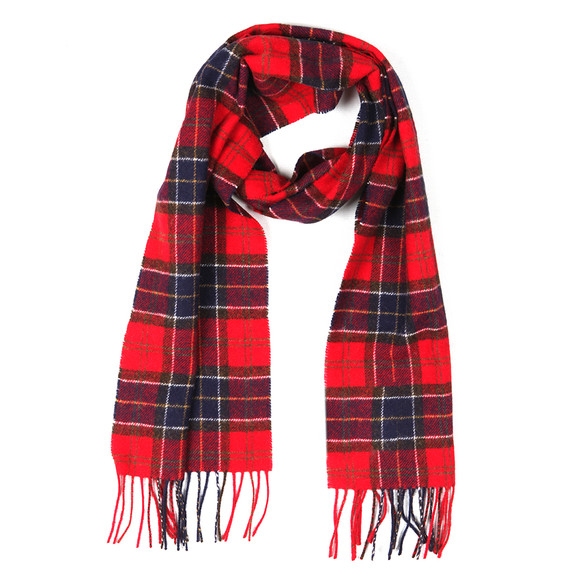 Barbour Lifestyle Mens Red Tartan Lambswool Scarf main image