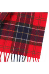Barbour Lifestyle Mens Red Tartan Lambswool Scarf