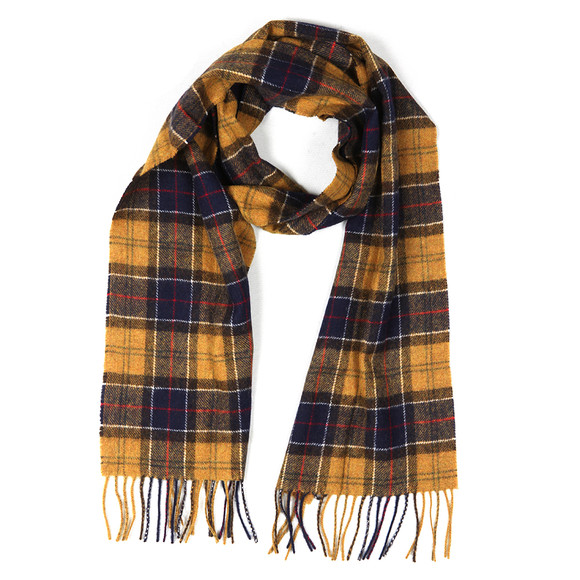 Barbour Lifestyle Mens Blue Tartan Lambswool Scarf main image
