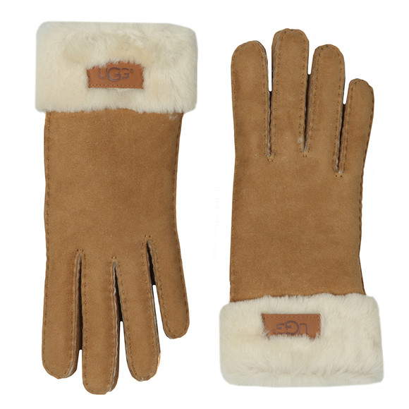 Ugg Womens Brown Sheepskin Turn Cuff Glove main image