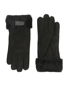 Ugg Womens Black Sheepskin Turn Cuff Glove