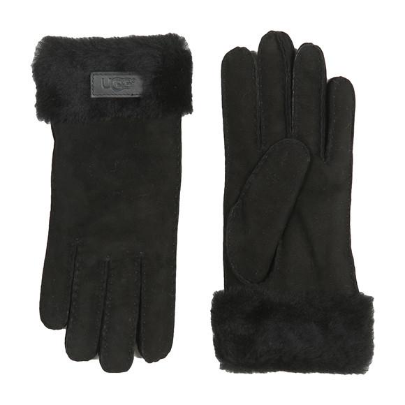 Ugg Womens Black Sheepskin Turn Cuff Glove main image