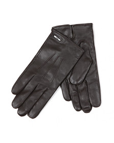 BOSS Loungewear Mens Brown Hainz2 Leather Gloves