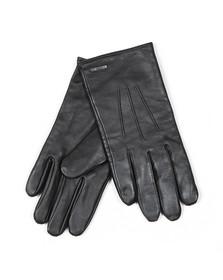 BOSS Bodywear Mens Black Hainz2 Leather Gloves