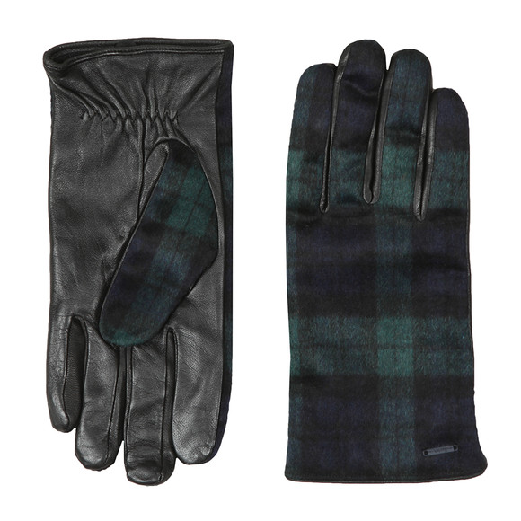Scotch & Soda Mens Black Classic Wool Gloves