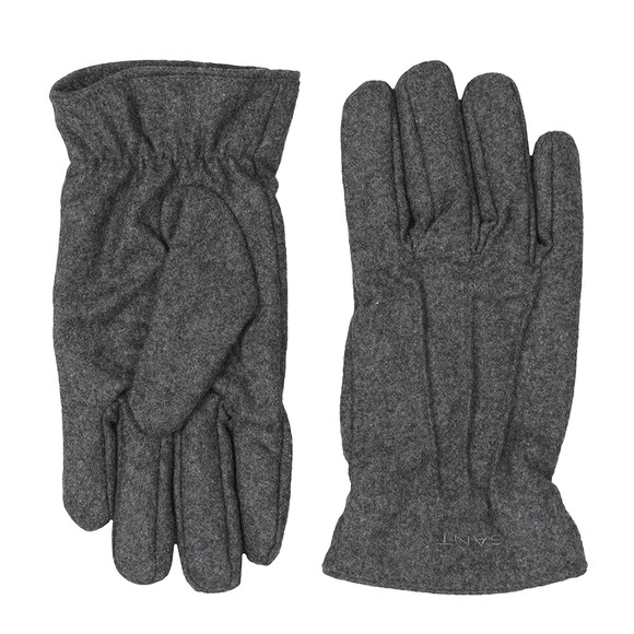 Gant Mens Grey Melton Gloves main image
