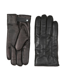 Ted Baker Mens Black Rainboe Leather Glove