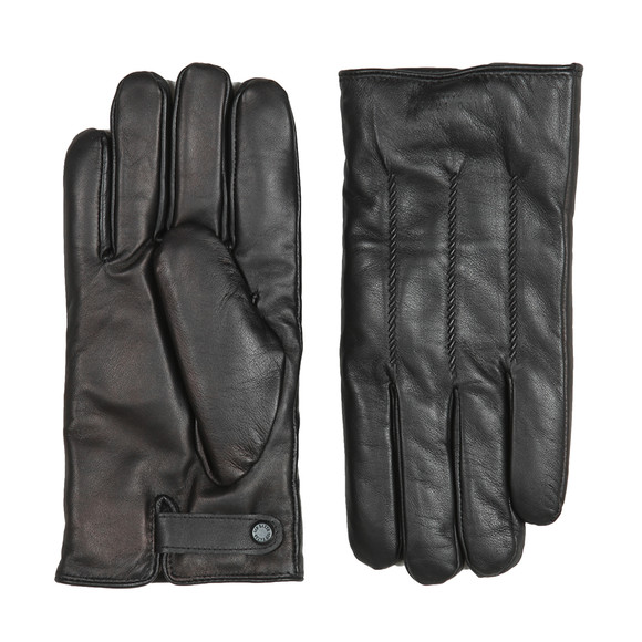 Ted Baker Mens Black Rainboe Leather Glove main image