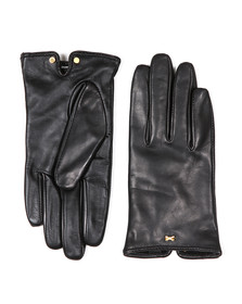 Ted Baker Womens Black Bow Detail Leather Glove