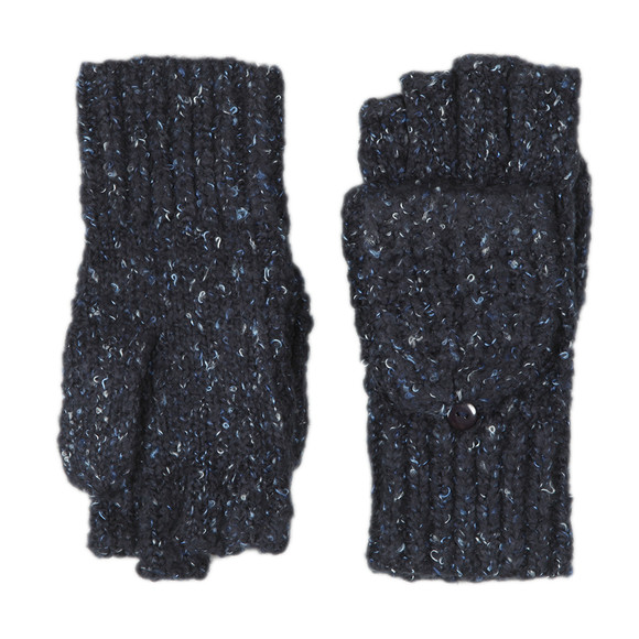 Superdry Womens Blue Clarrie Stitch Mittens main image