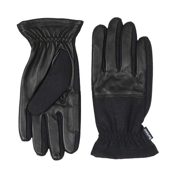 Barbour Lifestyle Mens Blue Rugged Melton Mix Glove